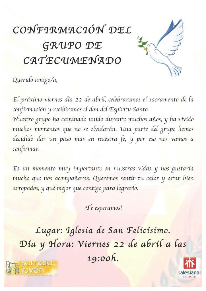 INVITACIÓN CONFIRMACIONES 2016